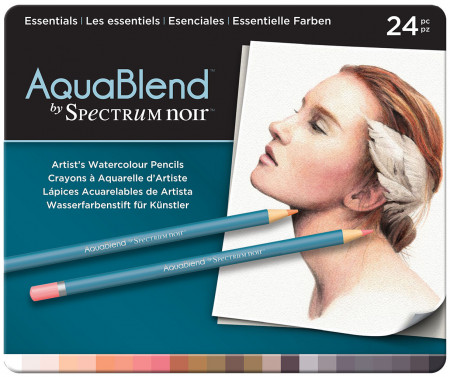 Spectrum Noir AquaBlend Watercolour Pencils - Essentials (Tin of 24)