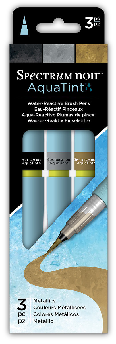 Spectrum Noir AquaTint Watercolour Markers - Metallics (Pack of 3)