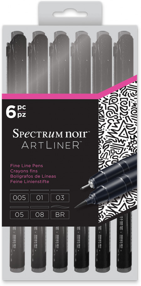 Spectrum Noir Artliner - Black (Pack of 6)