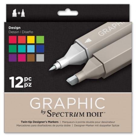 Spectrum Noir Graphic Markers - Design (Pack of 12)