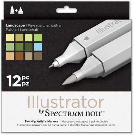 Spectrum Noir Illustrator Markers - Landscape (Pack of 12)