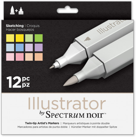Spectrum Noir Illustrator Markers - Sketching (Pack of 12)
