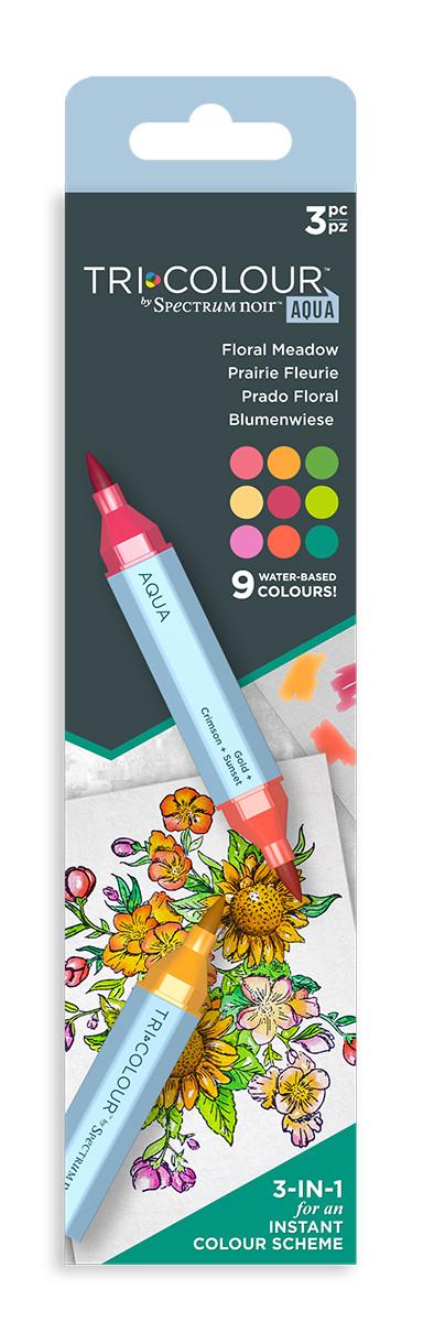 Spectrum Noir TriColour Aqua Markers - Floral Meadow (Pack Of 3)