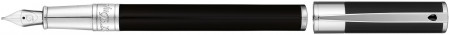 S.T. Dupont D-Initial Fountain Pen - Black Lacquer Chrome Trim
