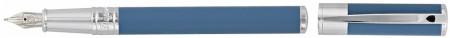 S.T. Dupont D-Initial Fountain Pen - Matte Shark Blue