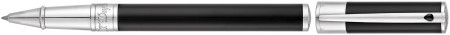 S.T. Dupont D-Initial Rollerball Pen - Black Lacquer Chrome Trim