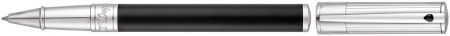 S.T. Dupont D-Initial Rollerball Pen - Duotone Black & Chrome