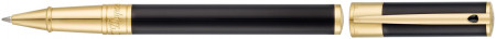 S.T. Dupont D-Initial Rollerball Pen - Black Lacquer Gold Trim