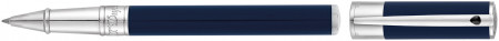 S.T. Dupont D-Initial Rollerball Pen - Blue & Chrome