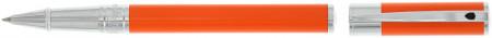 S.T. Dupont D-Initial Rollerball Pen - Orange & Chrome