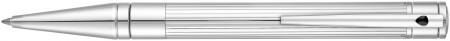 S.T. Dupont D-Initial Ballpoint Pen - Duotone Black & Chrome
