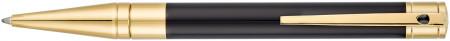 S.T. Dupont D-Initial Ballpoint Pen - Black Lacquer Gold Trim