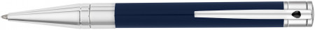 S.T. Dupont D-Initial Ballpoint Pen - Blue & Chrome