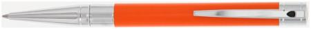 S.T. Dupont D-Initial Ballpoint Pen - Orange & Chrome