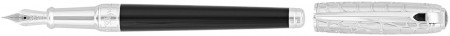 S.T. Dupont Line-D Medium Fountain Pen - Dandy Black Duotone