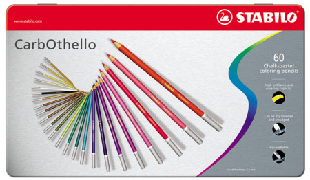 Stabilo Carbothello Colouring Pencils - Assorted Colours (Tin of 60)