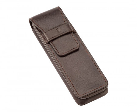 Staedtler Premium Double Leather Pen Pouch - Brown