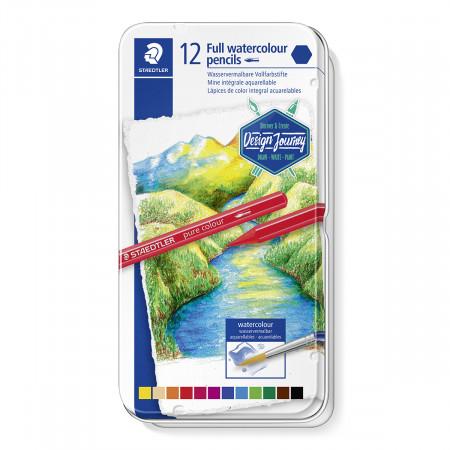 Staedtler Design Journey Pure Colour Watercolour Pencil (Tin of 12)