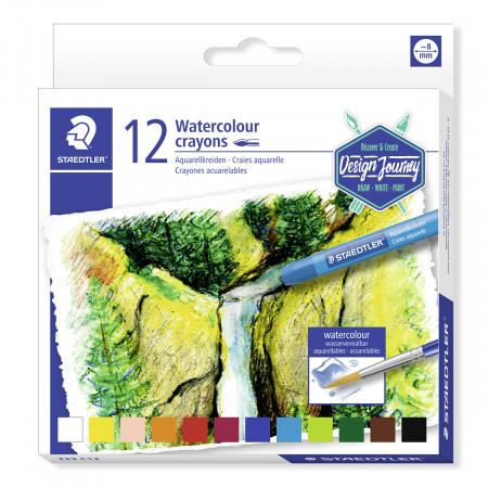 Staedtler Watercolour Crayons - Assorted Colours (Pack of 12)