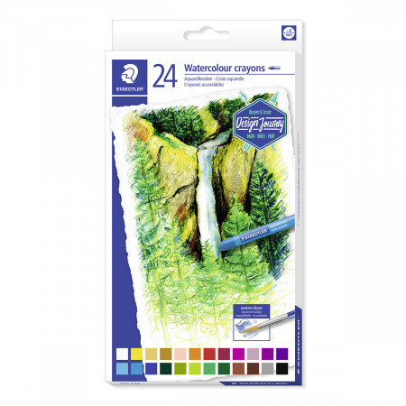 Staedtler Watercolour Crayons - Assorted Colours (Pack of 24)