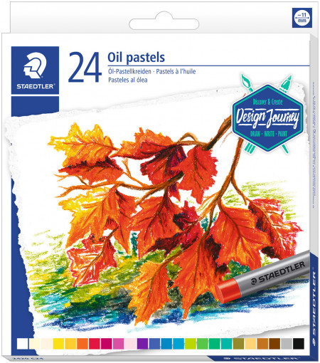 Staedtler Karat Oil Pastels - Assorted Colours (Tin of 24)