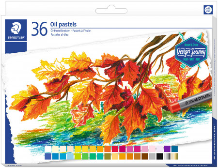Staedtler Karat Oil Pastels - Assorted Colours (Tin of 36)
