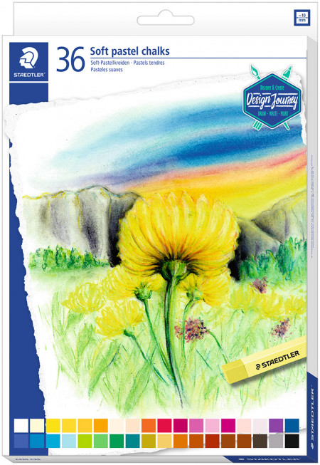 Staedtler Karat Soft Pastel Chalks - Assorted Colours (Pack of 36)