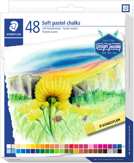 Staedtler Karat Soft Pastel Chalks - Assorted Colours (Pack of 48)