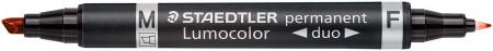 Staedtler Lumocolor Duo Permanent Marker - Bullet/Chisel Tip
