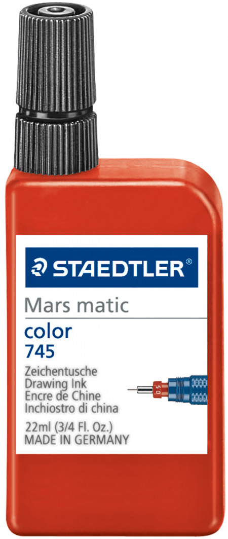 Staedtler Mars Matic Drawing Ink for Film & Paper - Red (22ml)