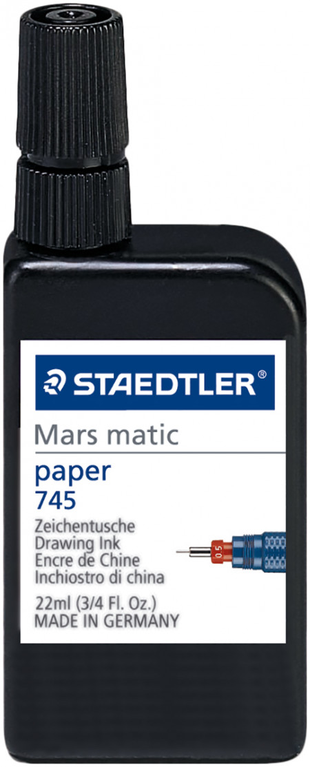 Staedtler Mars Matic Drawing Ink For Paper - Black (22ml)