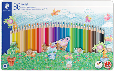 Staedtler Coloured Pencils  - Assorted Sport Colours (Tin of 36)