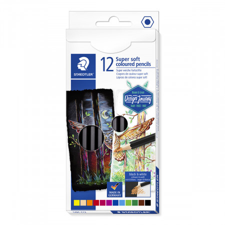 Staedtler Super Soft Colouring Pencils - Assorted Colours (Pack of 12)