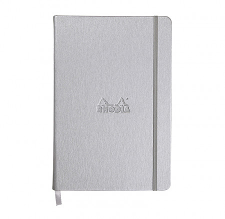 Rhodia Webnotebook- Medium Silver- Lined