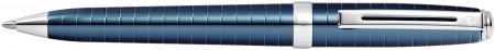 Sheaffer Prelude Ballpoint Pen - Cobalt Blue Chrome Rings