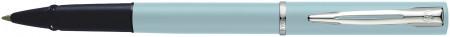 Waterman Allure Rollerball Pen - Pastel Blue Chrome Trim