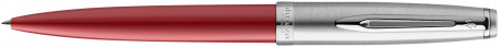 Waterman Embleme Ballpoint Pen - Essential Red Chrome Trim