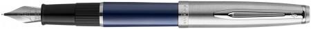 Waterman Embleme Fountain Pen - Essential Blue Chrome Trim