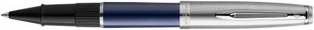 Waterman Embleme Rollerball Pen - Essential Blue Chrome Trim