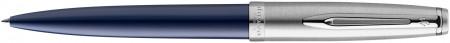 Waterman Embleme Ballpoint Pen - Essential Blue Chrome Trim