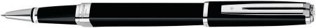Waterman Exception Rollerball Pen Slim - Black Lacquer Silver Trim