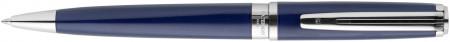 Waterman Exception Ballpoint Pen Slim - Blue Lacquer Silver Trim