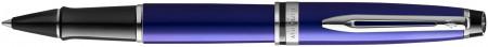 Waterman Expert Rollerball Pen - Essential Dark Blue Chrome Trim
