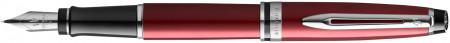 Waterman Expert Fountain Pen - Essential Dark Red Chrome Trim