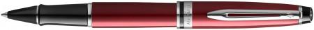 Waterman Expert Rollerball Pen - Essential Dark Red Chrome Trim