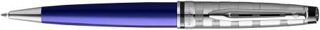 Waterman Expert Ballpoint Pen - Deluxe Blue Chrome Trim