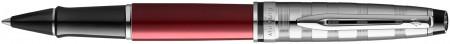 Waterman Expert Rollerball Pen - Deluxe Red Chrome Trim