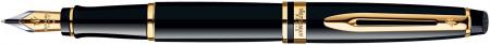 Waterman Expert Fountain Pen - Black Gold Trim