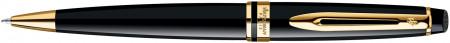 Waterman Expert Ballpoint Pen - Black Gold Trim