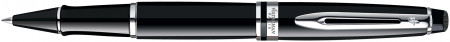 Waterman Expert Rollerball Pen - Black Chrome Trim